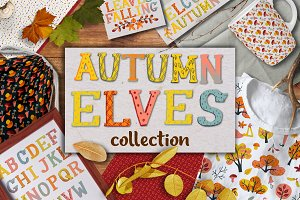 Autumn collection. Clipart&Pattern
