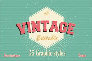 35 Vintage Graphic styles
