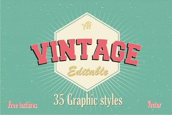 35 Vintage Graphic styles