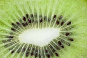 ripe green kiwi