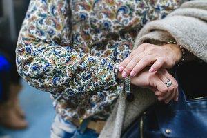 Woman getting a bracelet