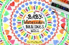 Watercolor geometric Baby  brushes