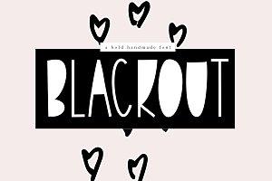 Blackout - A Bold Handmade Font