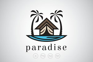 Paradise Resort Logo Template