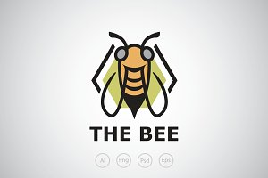 The Bee Hive Logo Template