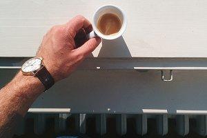 Espresso in a window