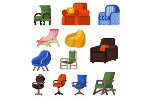 Chair vector comfortable furniture