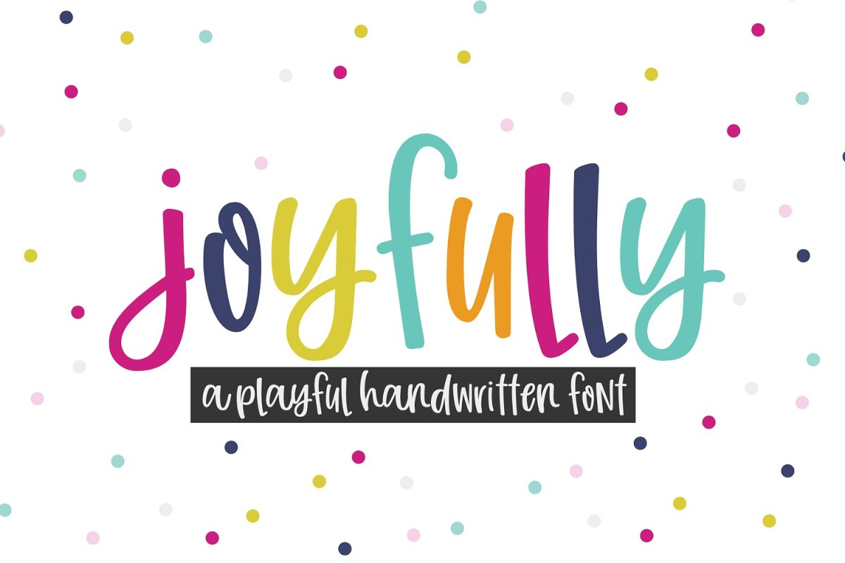 New! Joyfully Handwritten Font