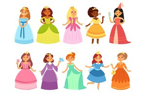 Princess vector little girl