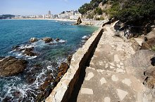 View of Lloret de Mar.Road of ronda,