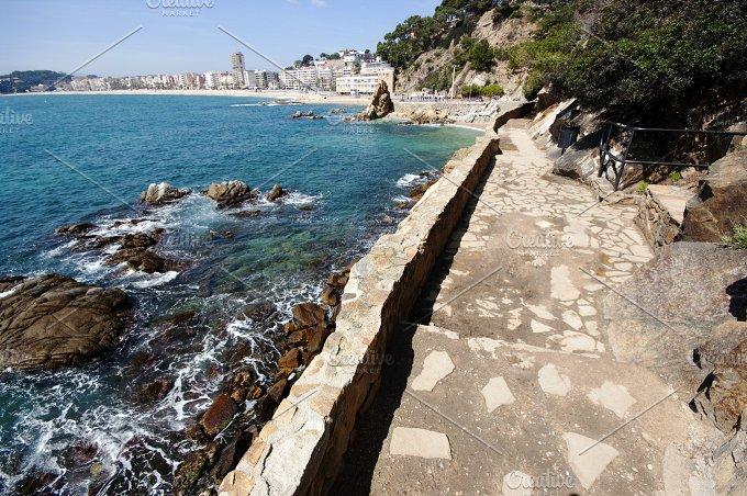 View of Lloret de Mar.Road of ronda, - Nature