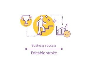 Business success concept icon