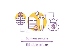 Business success concept icon