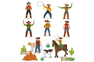 Cowboy vector western cow boy or