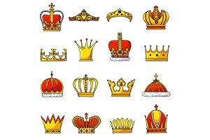 Crown vector golden royal jewelry