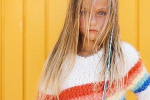 Portrait of beautiful Little girl wi