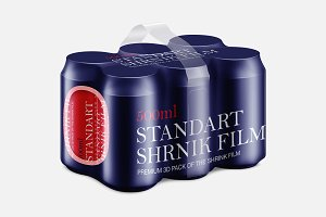Aluminum Can 6 Pack Mockup