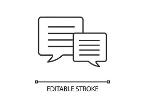 Speech bubbles linear icon