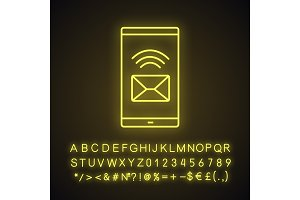 Smartphone incoming message icon
