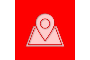Building location pinpoint icon