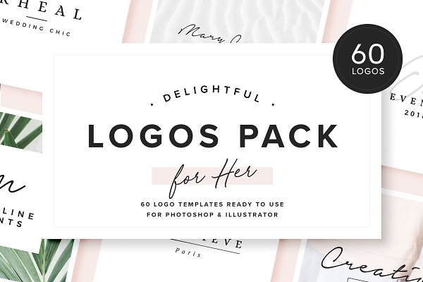 Logo Templates: Davide Bassu - Delightful - Logos Pack