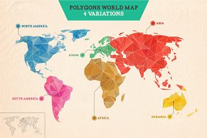 Polygons World Map