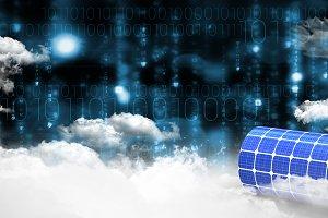Image of 3d solar power battery