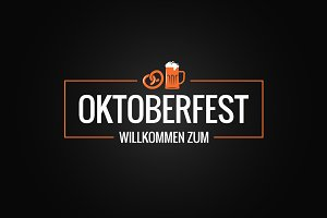 Oktoberfest logo with beer mug