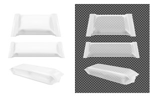 Transparent pack for chips