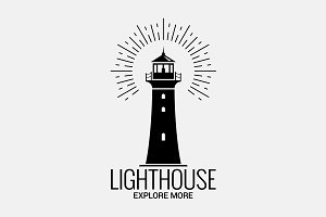 Lighthouse logo on white background.