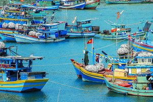 Old fishing boats