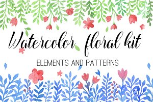 Watercolor Floral Kit