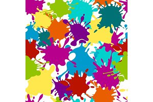 Seamless pattern paint splashes