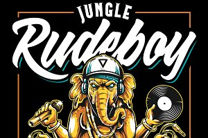 Jungle Rude Boy | Vector Art