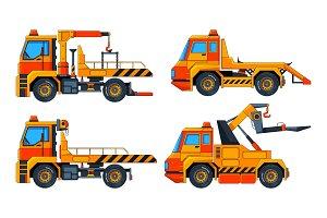 Evacuator cars. Various vector