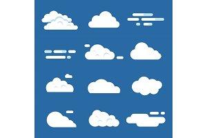 Various clouds. Flat cloud