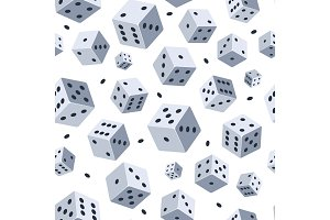 Dice vector pattern. Seamless