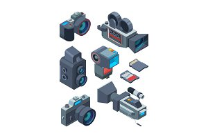 Isometric video and photo cameras