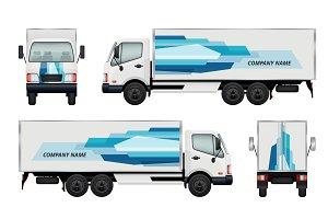 Car truck branding. Vector identity