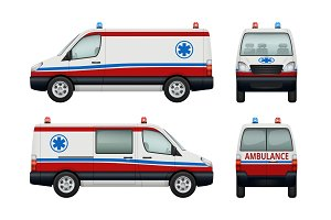 Ambulance service cars. Various