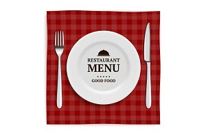 Realistic restaurant menu. Template