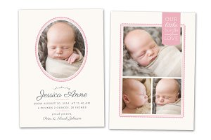 Birth Announcement Template CB012