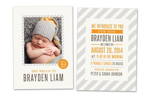 Birth Announcement Template CB019