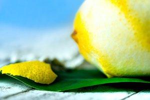 lemon and  zest