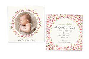 Birth Announcement Template CB020