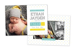 Birth Announcement Template CB022