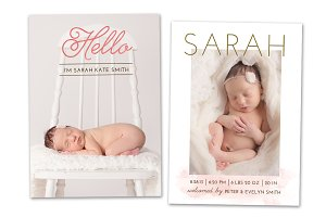 Birth Announcement Template CB023
