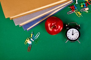 Still life with school books. Back