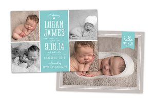 Birth Announcement Template CB024
