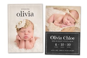 Birth Announcement Template CB027